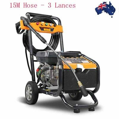 8HP 4800PSI High Pressure Washer Cleaner Petrol Water 15M Hose - 3 Lances