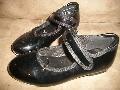 NEW! Freestyle by Danskin Girls Tap Dance Shoes - Shiny Black