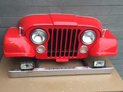 Jeep Art, real CJ front end turned into man cave sign all steel, Willys Jeepster