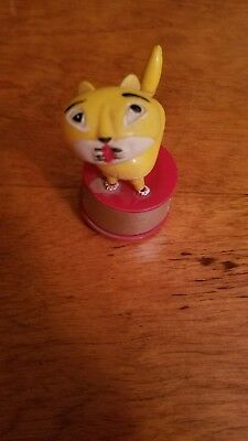 """1960's Vintage Candy the Cat Push Button Puppet Toy Kohner 4"""" Hong Kong"""
