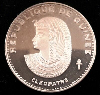 1970 Guinea 500 Francs Silver Proof Cleopatra