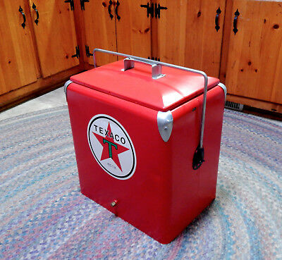 """Progress Refrigerator Co. Red Texaco Ice Chest / Cooler Fantasy Piece LARGE 19"""""""