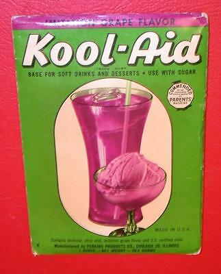 VINTAGE 1940's / 1950's KOOL-AID FULL PACK Mip GRAPE FLAVOR Old store stock NOS