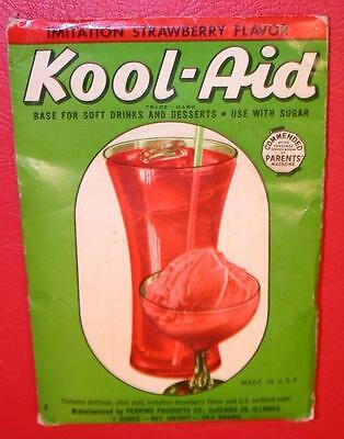 VINTAGE 1940's 1950's KOOL-AID FULL PACK Mip STRAWBERRY FLAVOR store stock NOS !