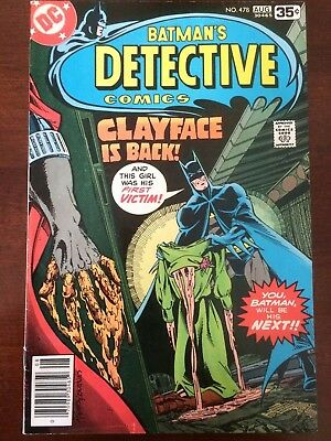 Detective Comics #478 (Dc Aug 1978) Batman 1St Modern Clayface Preston Payne
