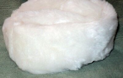 NEW Adorable White Russian Style Fur Hat~Janie and Jack~0-6mo infant/baby girl