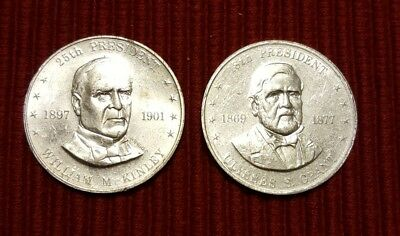 1968 Vintage SHELL OIL CO Shell's Mr. President Coin Game McKinley and Grant