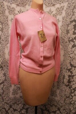 Vintage Pink 100% Cashmere Sweater Made in Scotland Pringle NWT