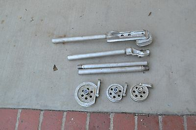 VINTAGE imperial brass MFG CO. PIPE TUBE BENDER DIE bars and heads
