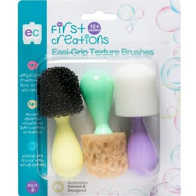 First Creations Easi-Grip Texture Brushes - Set Of 3