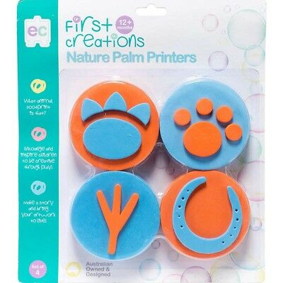 First Creations Easi-Grip Nature Palm Printers - Set Of 4