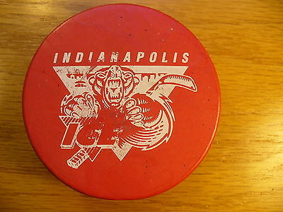IHL Indianapolis Ice '98 Valentine's Day Logo Hockey Puck Check My Other Pucks