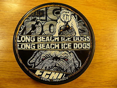 ECHL Long Beach Ice Dogs 1/2 Double Team Logo Hockey Puck Check My Other Pucks