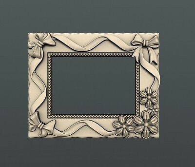 3d STL models for CNC, Artcam, Aspire, decor photo frame mirror