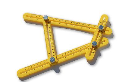 MROIG Template Tool Angle Finder Measuring Tool (Yellow)