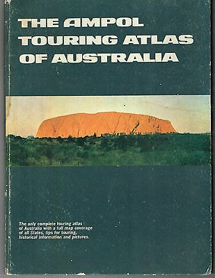 The Ampol Touring Atlas of Australia 1969 Hardcover Book Map 94 pages