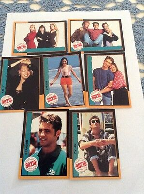 7 Topps 1991 Beverly Hills 90210 Cards OB