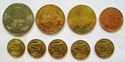 Lot of 9 Washington State Medals - Lynden, 100 Year, Central 1967, Ye Olde, Park