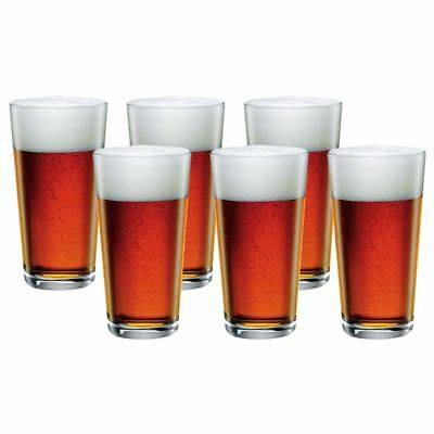 Bormioli Rocco - Sestriere 'One Pint' Beer Glass 580ml set of 6 (Made in Italy)