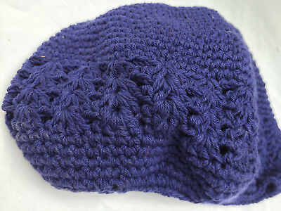 c2618edf8d7 SKY BLUE Crochet Beanie Skull Cap Knit Hat 100% Cotton Unisex One Size Fits  All