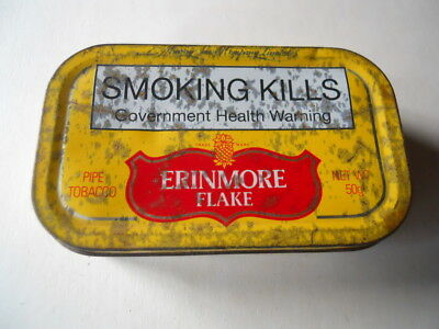 Murray's Erinmore Flake Cigarette Tobacco Tin Collectible Antique Tobacciana