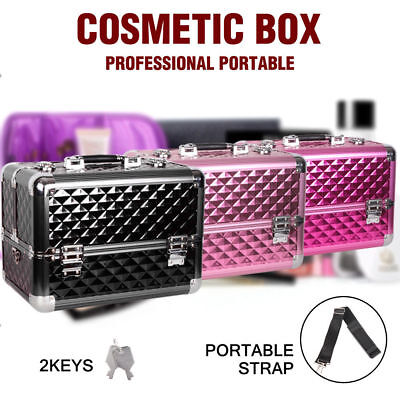 Professional Portable Beauty Makeup Case Cosmetics Box Carry Bags Organiser NEW