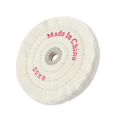 6in Cloth Buffing Polishing Wheel 1/2in Arbor Buffer Polish Grinder White Pad