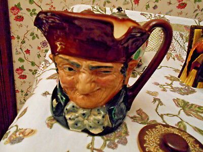 "Antique Royal Doulton Toby Jug ""A"" Mark Old Charley Large Made In England"