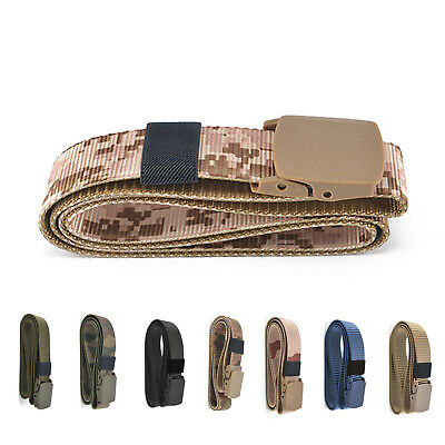 Military Plastic Buckle Waist Belt Men Fashion Nylon Waistband Hypoallergenic UK