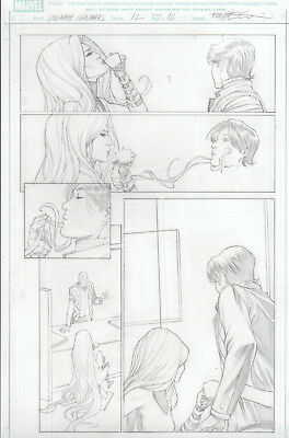 MARVEL´s UNCANNY INHUMANS 12 pg 12 original art by Carlos PACHECO with MEDUSA