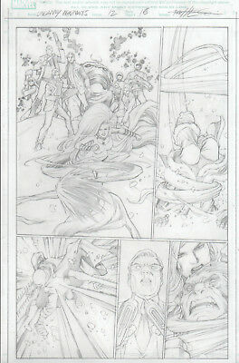 MARVEL´s UNCANNY INHUMANS 12 pg 16 original art by Carlos PACHECO with MEDUSA