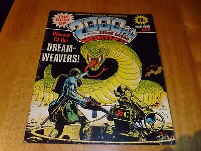 The Best of 2000ad Featuring JUDGE DREDD Monthly Comic Magazine #6  Mar' 1986
