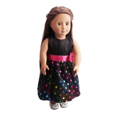 """Colorful Dress Rose Waistband Suit Clothes Outfit for 18"""" American Girl Doll"""