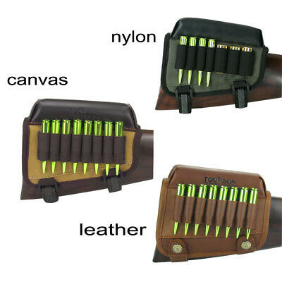Tourbon Rifle Cheek Riser Rest Pad Ammo Holder Bullets Pouch Tactical Hunting AU