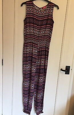 Jumpsuit Playsuit 12-13yrs VGC Worn Once Multicoloured