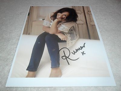 Rumer  Signed Autographed Colour Photo 10 X 8 With Proof Photo & C.o.a.