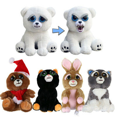 Growling Feisty Pet Soft Plush Stuffed Scary Face Toy Animal with Attitude -US