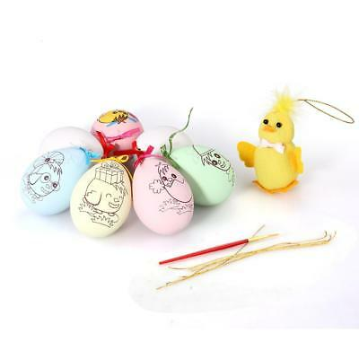 7 Easter Color Painted Egg +Chicks Toy for Kids Birthday  Party