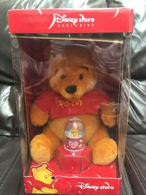 Disney Store Exclusive Winnie The Pooh Soft Toy And Snow Globe New And Boxed
