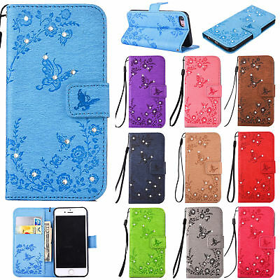 Glitter Leather Flip Case Wallet Cover Stand For Apple iPhone 7 6S 6 Plus 5S X 8