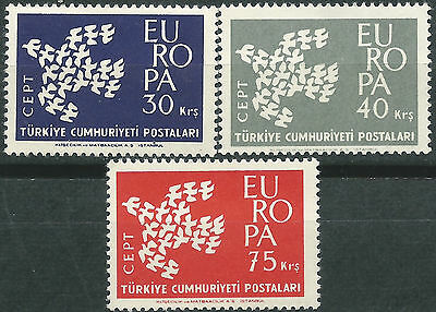 TURKEY EUROPE cept 1961 Without Stamp hinges MNH
