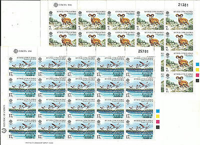 Cyprus Cyprus EUROPE cept 1986 Without Stamp hinges MNH Sheet block