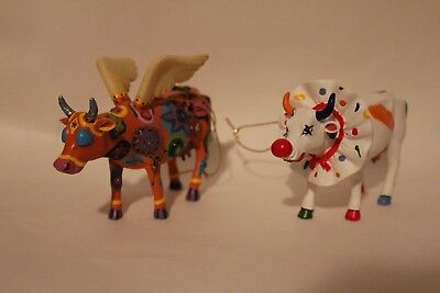 Two Cow Parade Ornaments * Angelicow and Big Apple Cir-cow