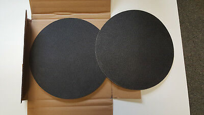 """16"""" Double Sided 50 Grit Silicon Carbide Sanding Disc Box of 10"""