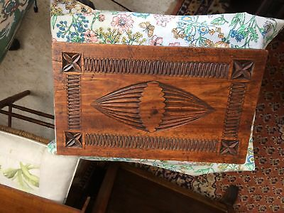 Vintage solid wood footstool elaborately carved beautiful piece