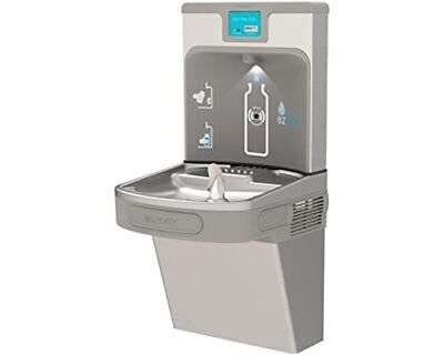 Elkay LZS8WSLP Drinking Fountain w/ Bottle Filler Station and Digital Display