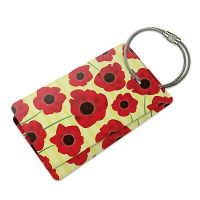 0df2b6eacc0f THIS IS NOT your Bag Set of Two Red Luggage Tag Metal Bag Tag ...