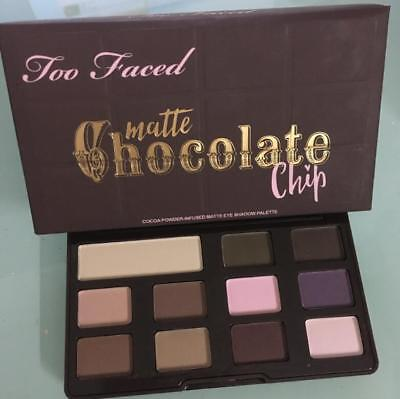 NEW black Too Faced Matte Chocolate Chip Eye Shadow Palette