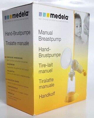 Medela Manual Breastpump With Base Model 005.0075 Designed For Infrequent Use
