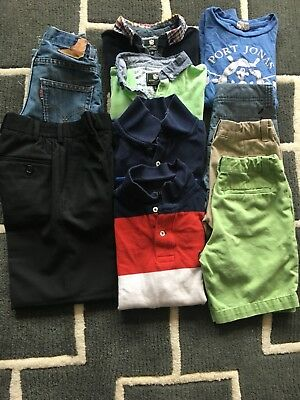 lot of 10 boys clothes size 6 crewcuts, levi's, shorts, jeans, and polo's